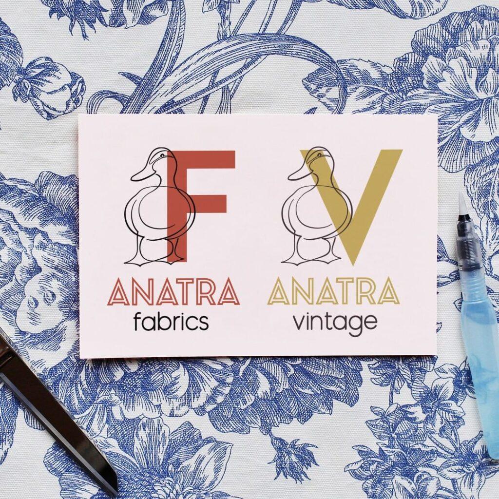 Anatra fabrics branding