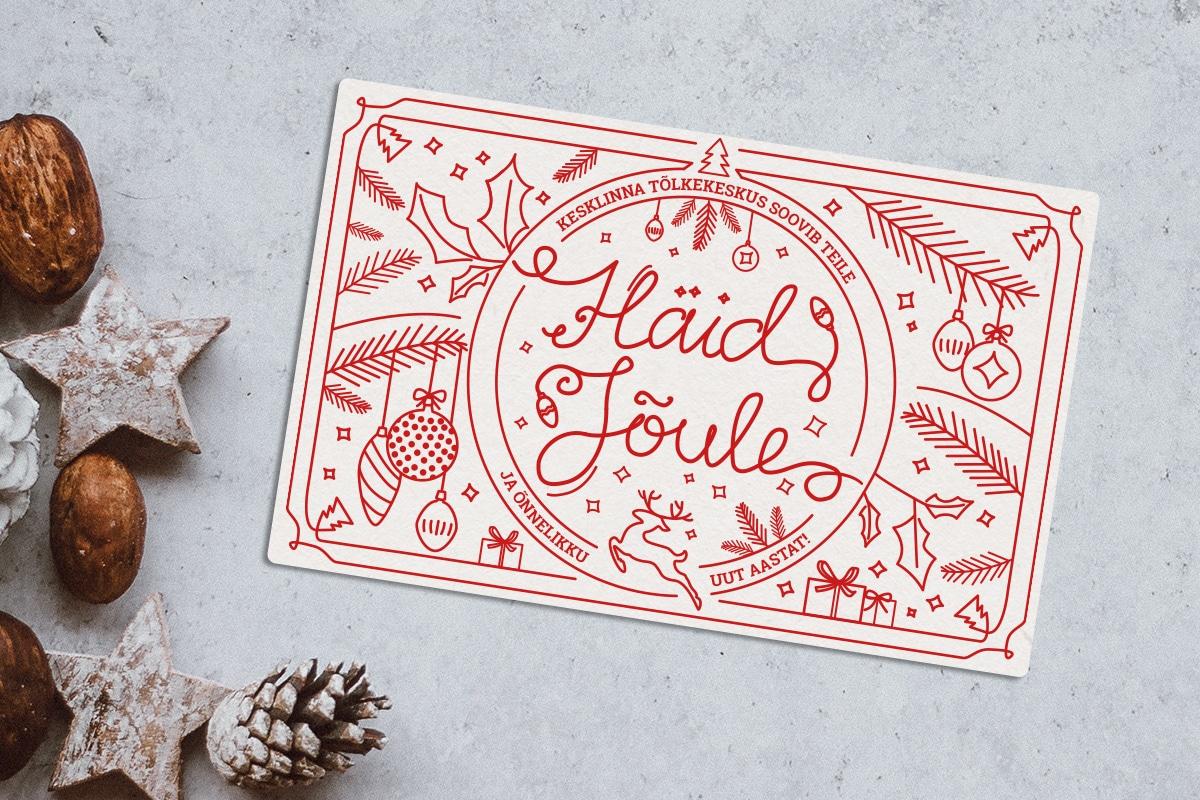 Kesklinna Tõlkekeskuse jõulukaart
