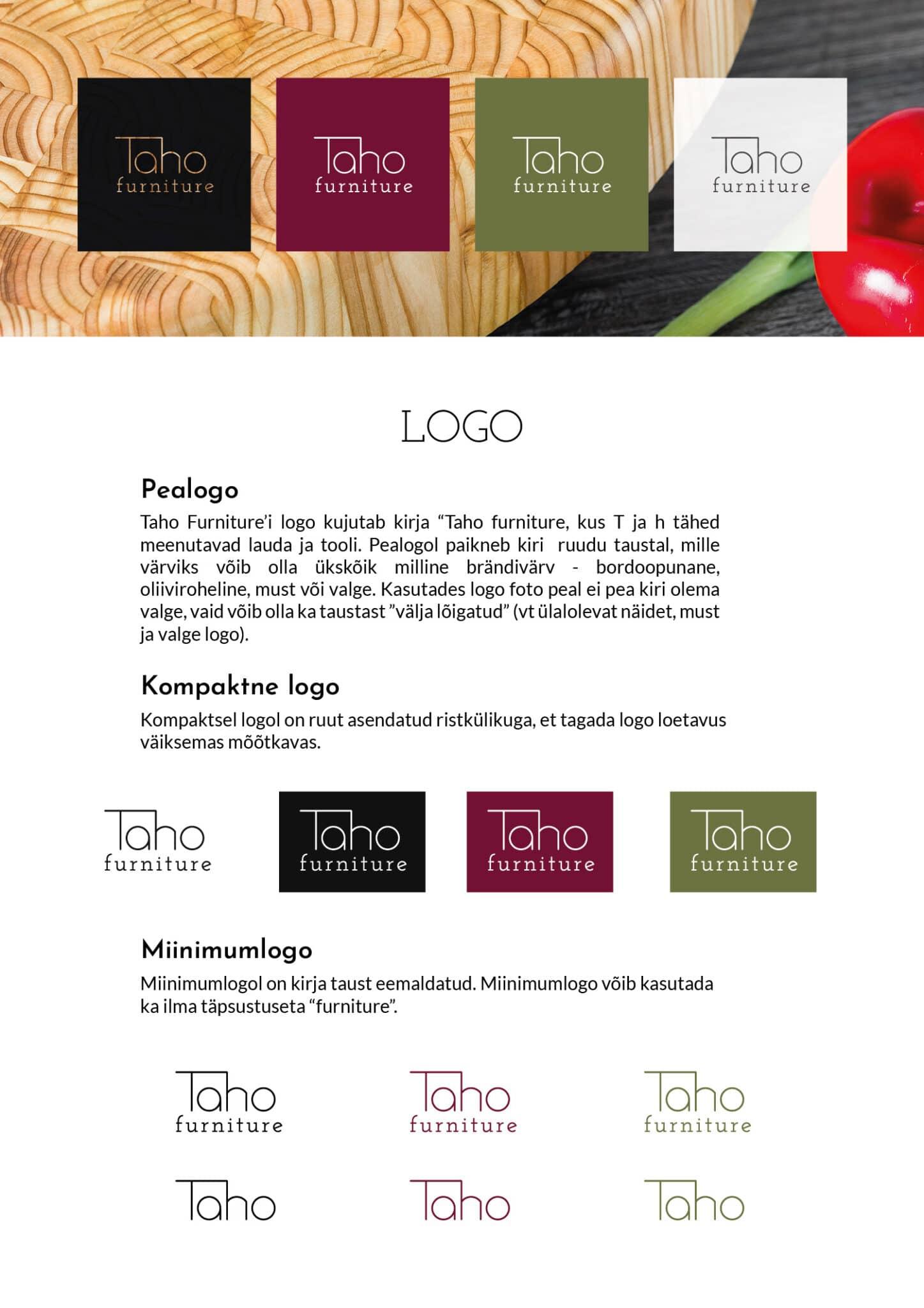 Logo disain Taho Furniture