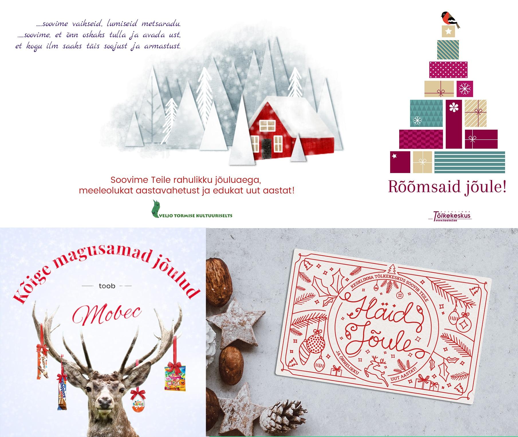 jõulukaardid firmadele